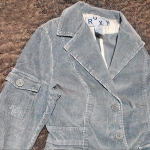Roxy Corduroy Suede Blazer Jacket